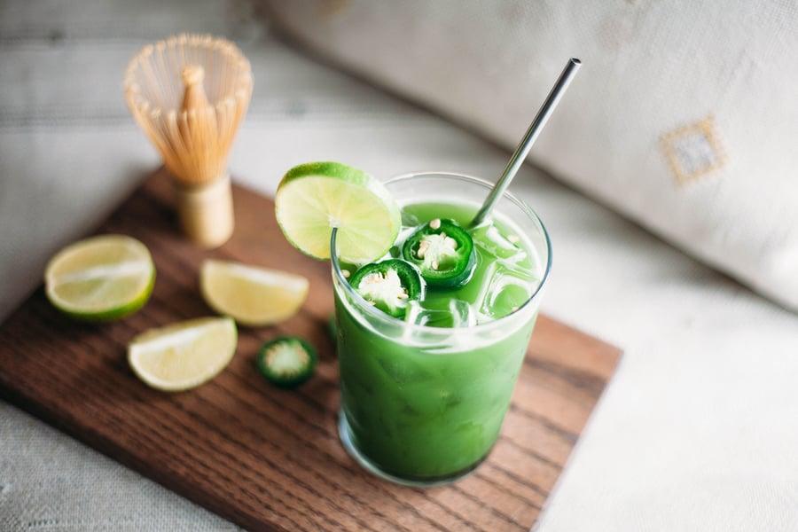 Matcha Jalapeno Soda