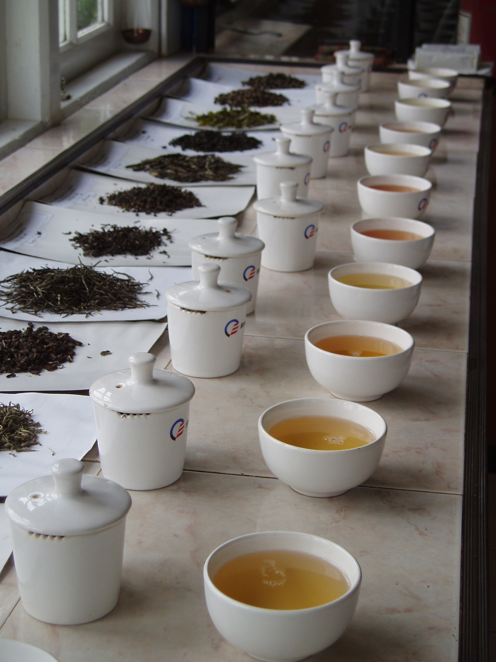 tasting teas at Idulgashinna