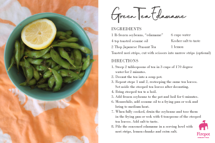 Green Tea Edamame Recipe Card