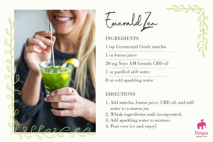 Emerald Zen matcha iced tea recipe card