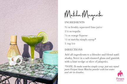 Matcha Margarita recipe card