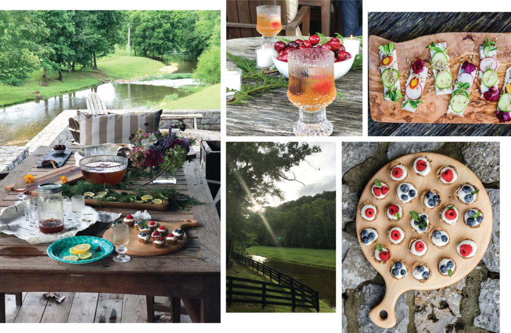 Photos of food and drinks at a summer solstice celebration