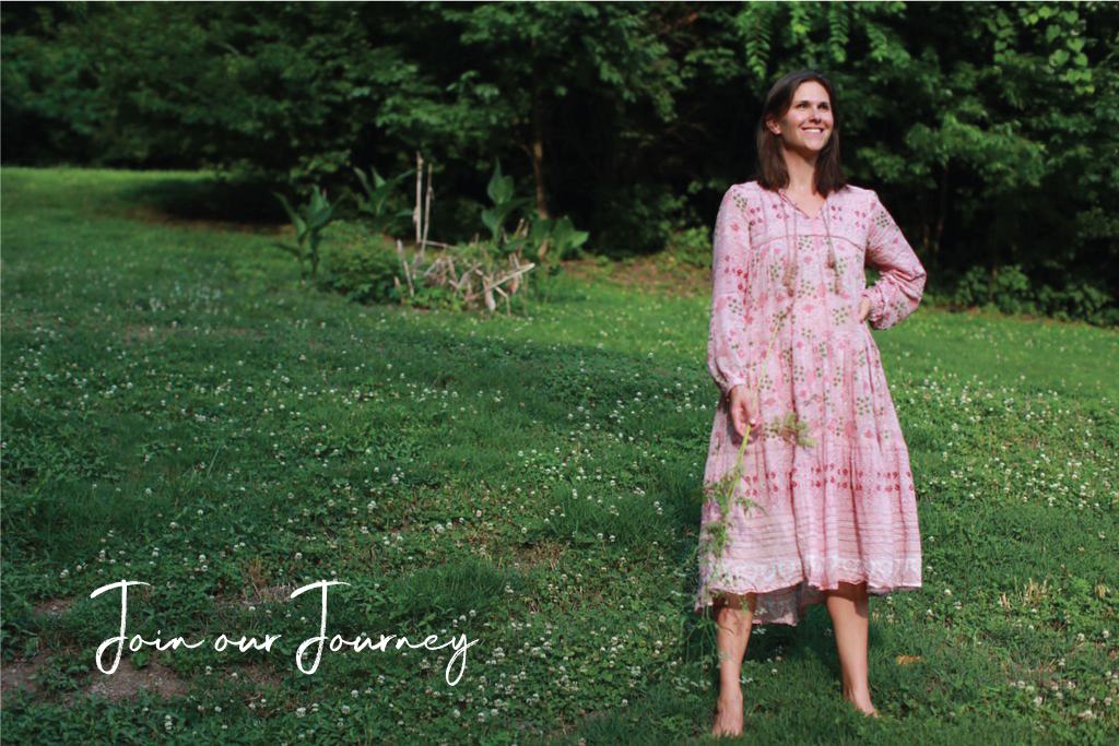 Join our journey: Sarah Scarborough standing in a grassy field