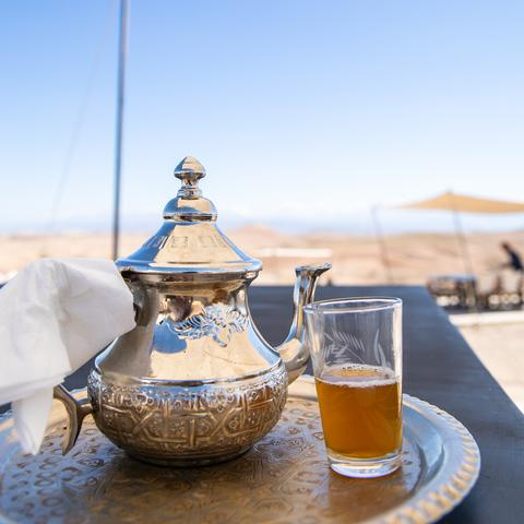 Moroccan Mint Tea and teapot