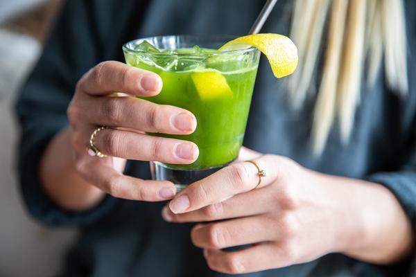 Emerald Zen matcha iced tea
