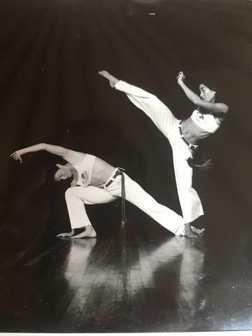 Julie Rothman practicing Capoeira