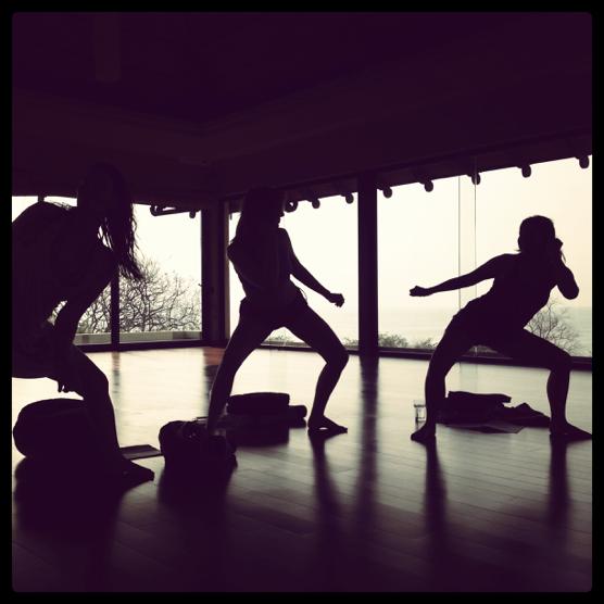 Three women Qoya dancing